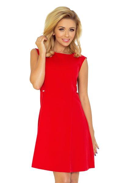 Červené letné voľné krátke šaty