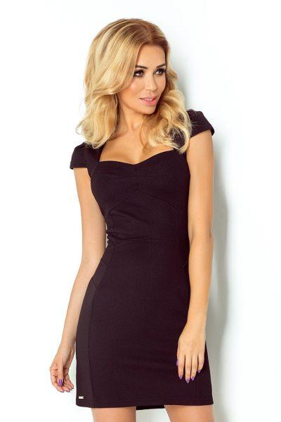 Čierne krátke šaty s výstrihom