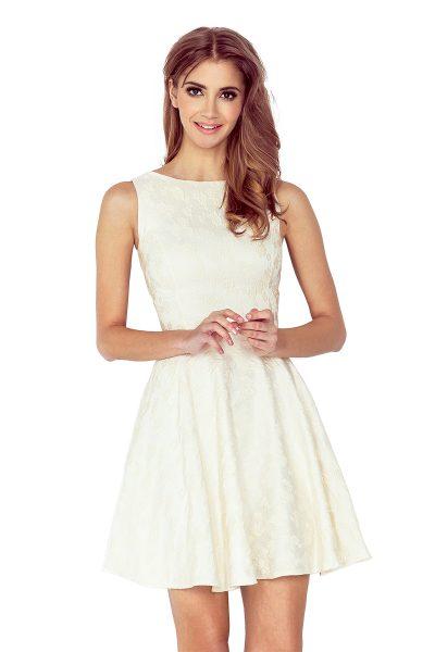 Béžové rozšírené krátke šaty