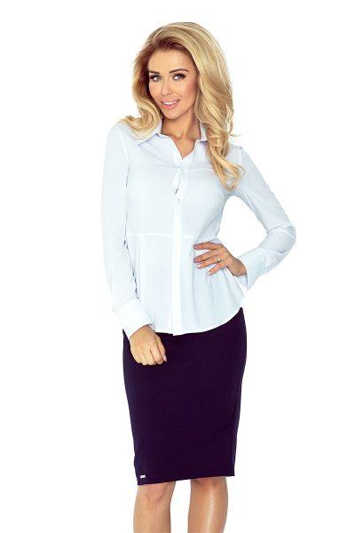 Biela elegantná košeľa s dlhými rukávmi