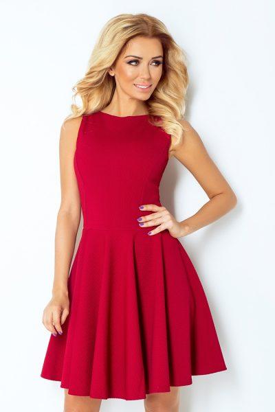 Bordovo červené rozšírené krátke šaty