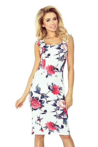 Farebné letné krátke šaty s kvetovaným vzorom