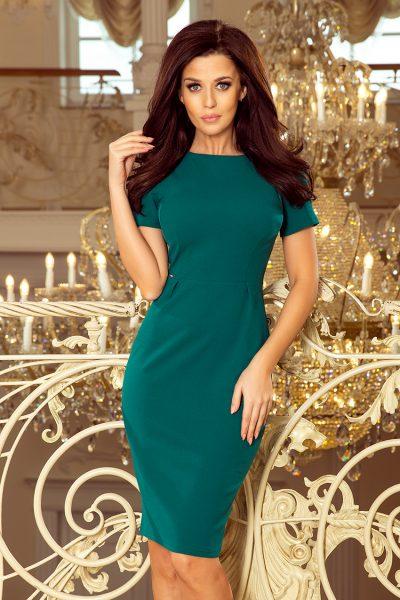 Zelené puzdrové elegantné šaty