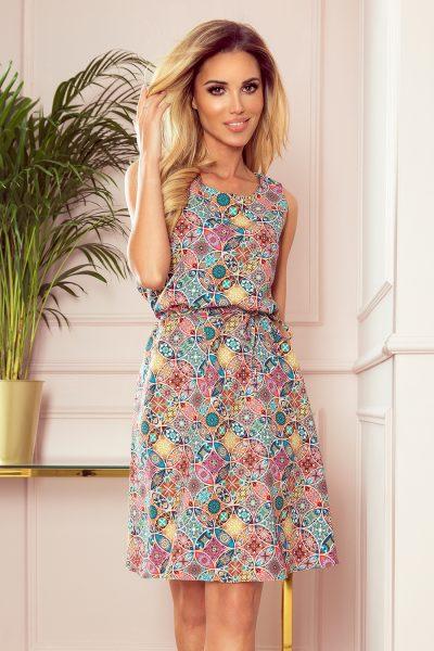 Ružovo farebné letné šaty so vzorom